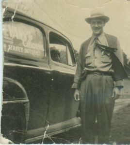 Woody and his delivery car - 1948