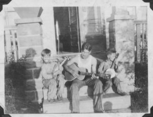 Woody and his nephews on Harmon Road