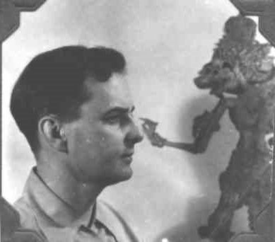Bernard Paul with Japanese Shadow Puppet